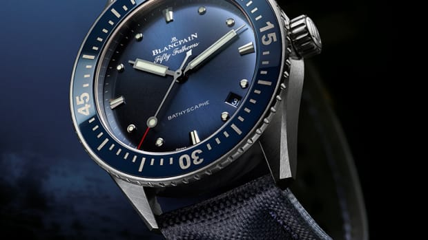 Blancpain 38mm Fifty Fathoms Bathyscaphe Abyss Blue