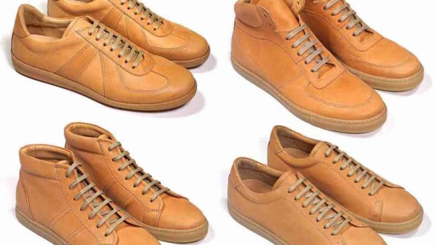 Epaulet Unfinished Horsehide Trainers