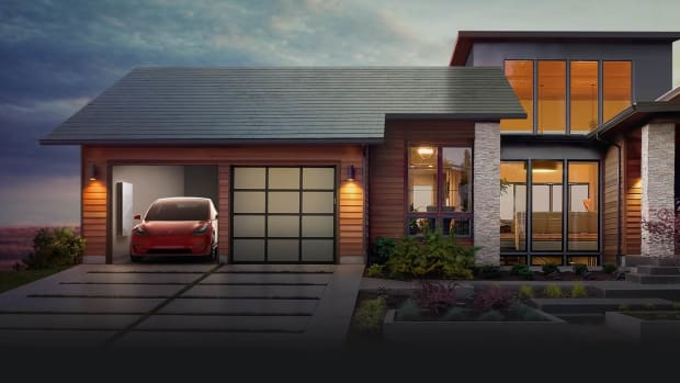 Home with Tesla Solar Tiles