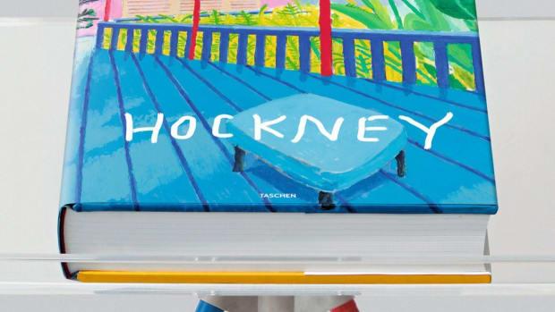 David Hockney Taschen with Marc Newson stand