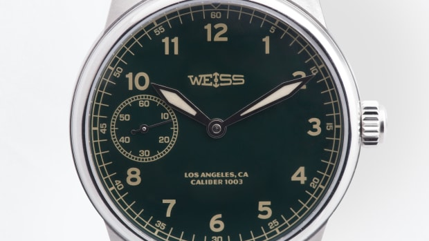 Weiss Made in USA Special Issue Green Dial