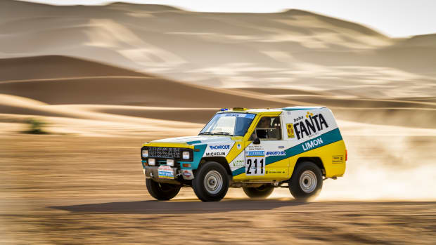1987 Nissan Paris Dakar Rally Car Fanta Limon