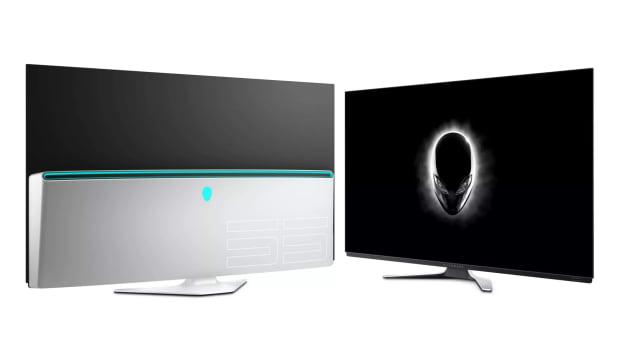 "Alienware 55"" OLED monitor"