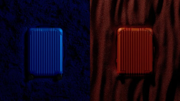 Rimowa Red and Blue Aluminum