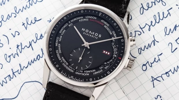 Nomos Zurich world time Amsterdam