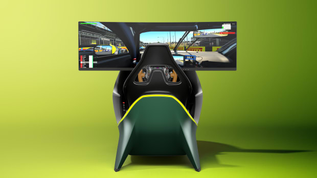 CURV X ASTON MARTIN AMR-C01 Racing Simulator Rear