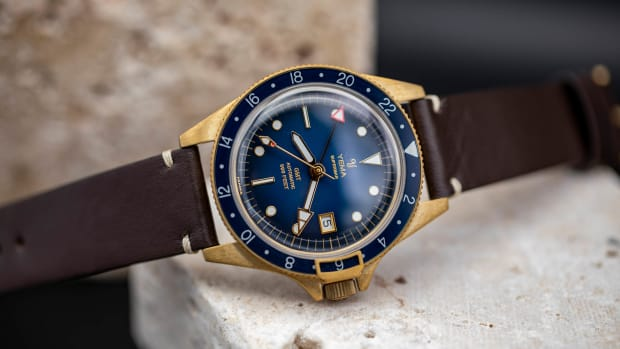 Yema Superman GMT Bronze Blue lifestyle