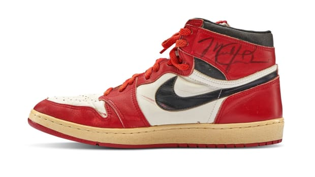Michael Jordan's Game Worn 1985 Player Sample Air Jordan 1s
