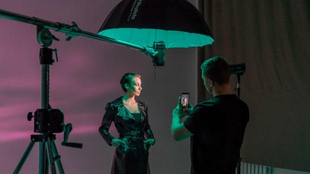Victor Bruskov BTS photographer - Tatiana Bruskova - Profoto Camera