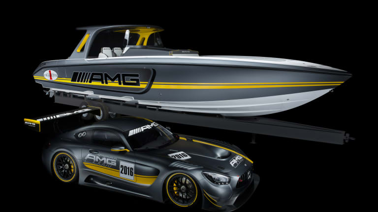 Cigarette and Mercedes come together to create a racing boat worthy of the AMG badge