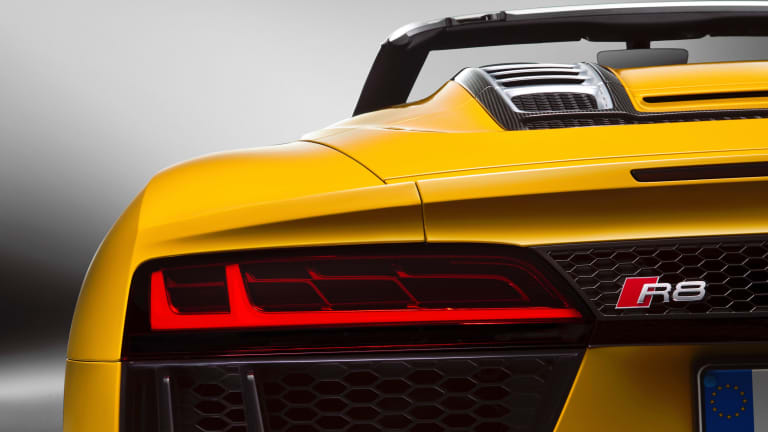 Audi's new R8 Spyder gives you front-row seats to a V10-powered rock concert