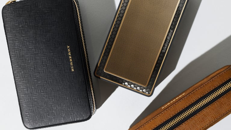 Burberry and Bowers and Wilkins suit up in leather and gold