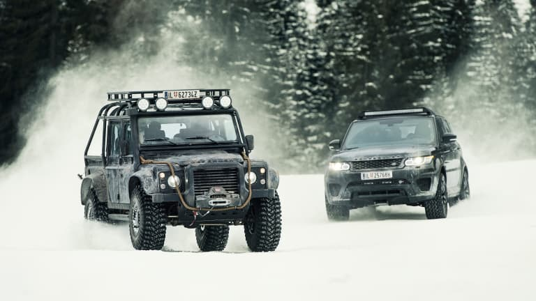 A look at the Land Rovers of 007's latest movie, Spectre