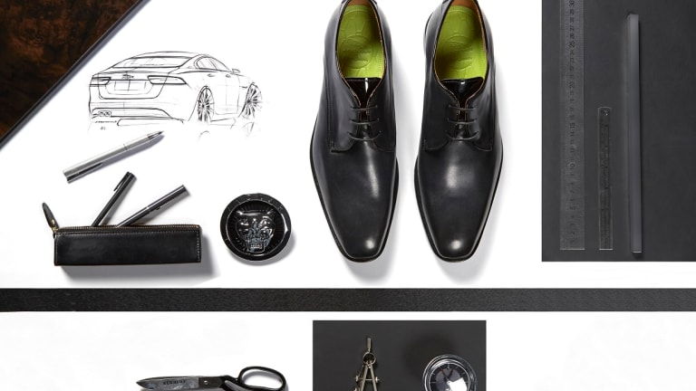 Oliver Sweeney crafts a driving shoe for Jaguar