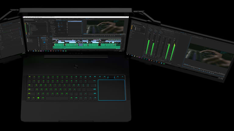 Razer's Project Valerie is the world's first automated triple display laptop