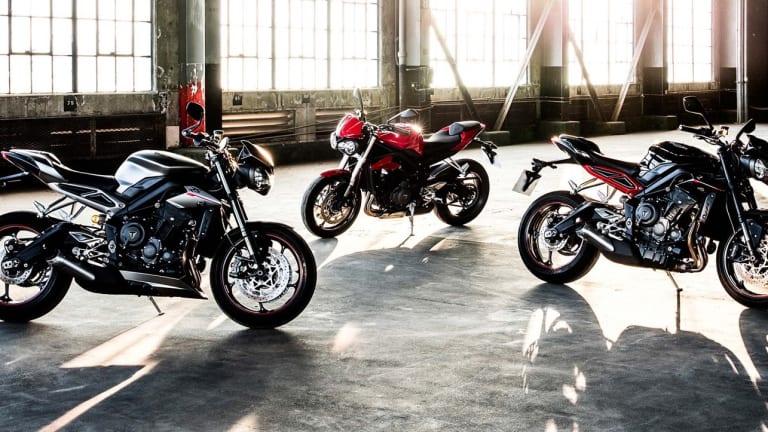 Triumph announces a trio of new Street Triples