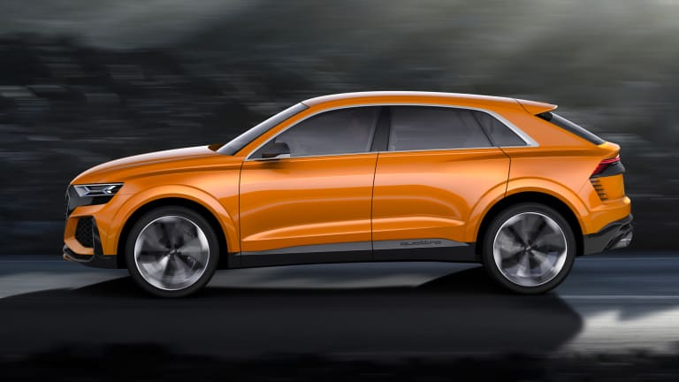 Audi continues to tease its upcoming flagship SUV with the Q8 Sport Concept