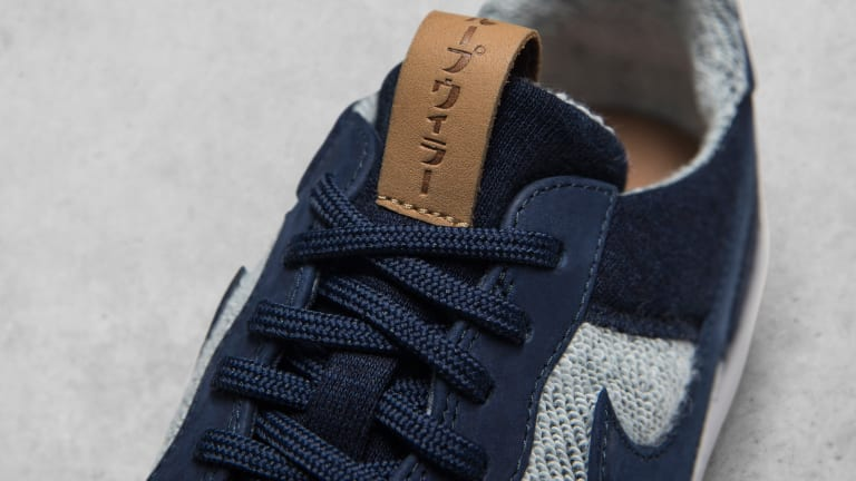 NikeLab and Loopwheeler team up on a pair of indigo-dyed sneakers