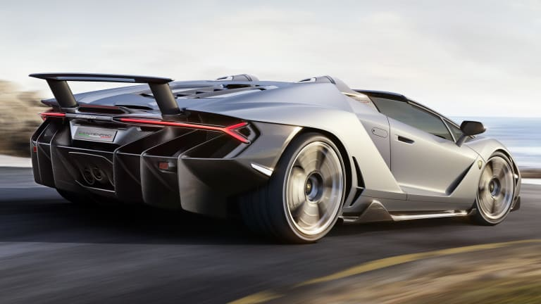 Lamborghini's Centenario Roadster lets you enjoy the soundtrack of a 770-hp V12