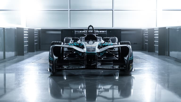 Jaguar returns to the track with its I-Type electric racecar