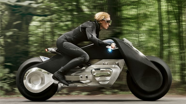 BMW Motorrad's Vision Next 100 gives us a look at what we hope is the motorcycle of the future