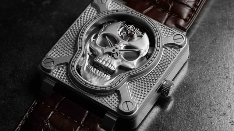 Bell & Ross puts a mechanical laughing skull in its latest BR01