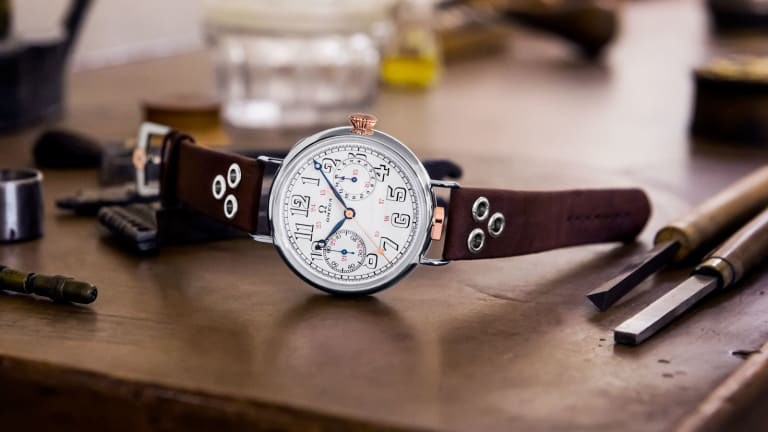 Omega pays tribute to its first wrist-chronograph