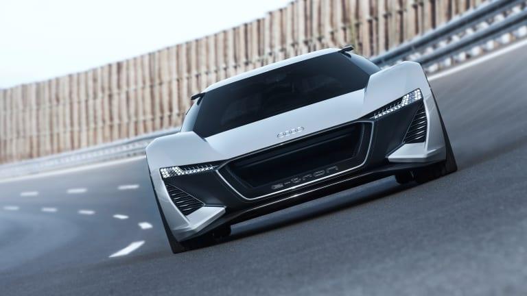Audi's PB 18 e-tron concept car conceptualizes a flagship hot hatch