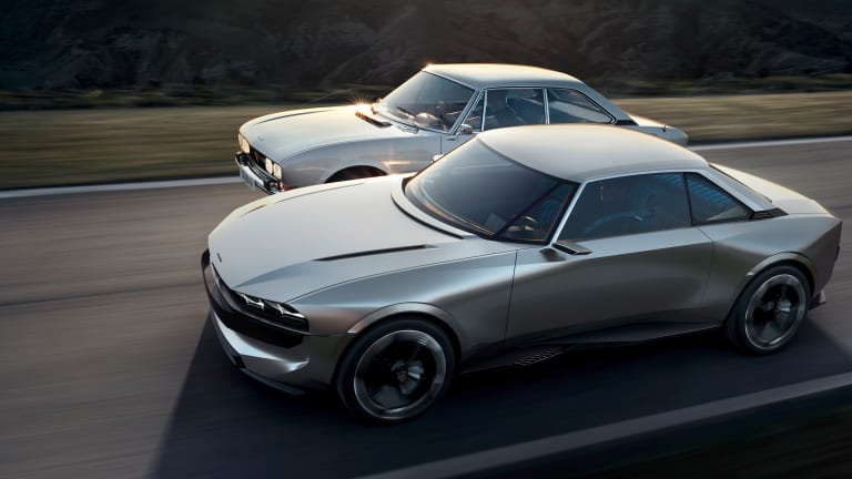 peugeot reimagines their 504 coupe into a modern all electric concept car acquire. Black Bedroom Furniture Sets. Home Design Ideas