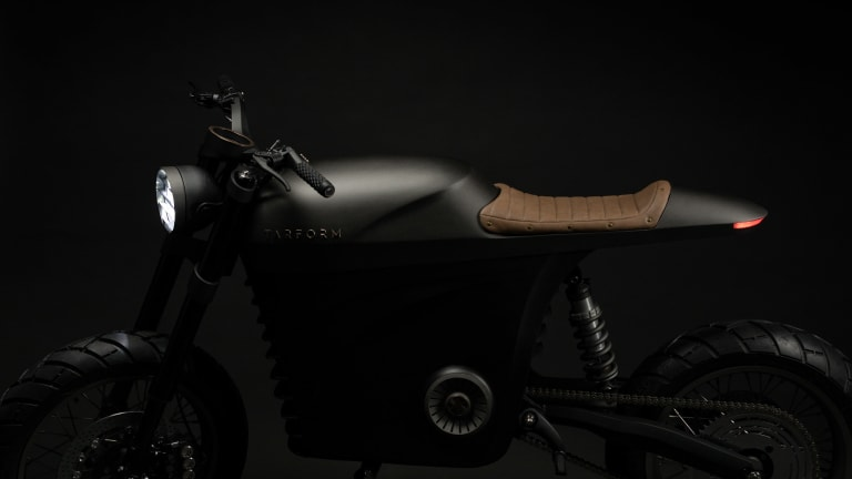 Tarform launches an electric motorcycle with a vintage attitude
