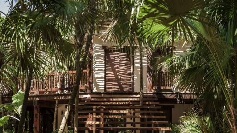 The Tulum Treehouse is a minimalist getaway along Mexico's Carribean coastline