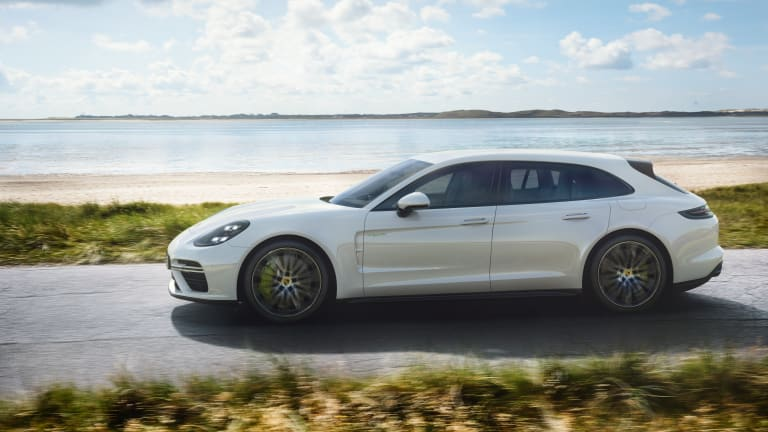 Porsche shows off its hybrid muscle with a 680-hp Panamera Sport Turismo
