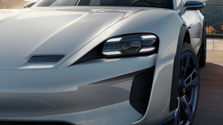 Porsche introduces a wagon version of its Mission E concept