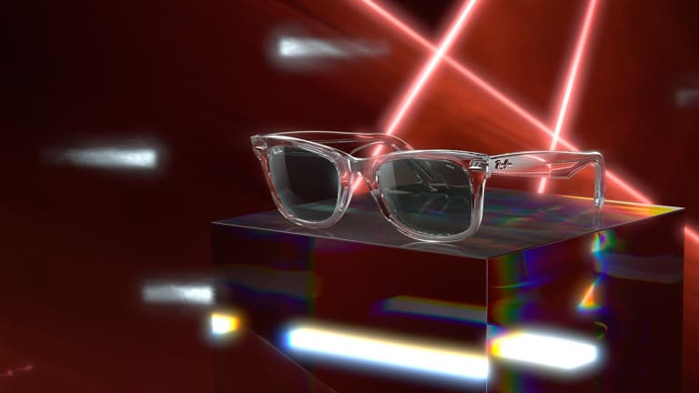 The Ray-Ban Wayfarer goes transparent for two of Europe's biggest music festivals