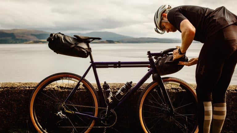 Rapha's Explore Waterproof Rear Pack is a must-have for long distance rides
