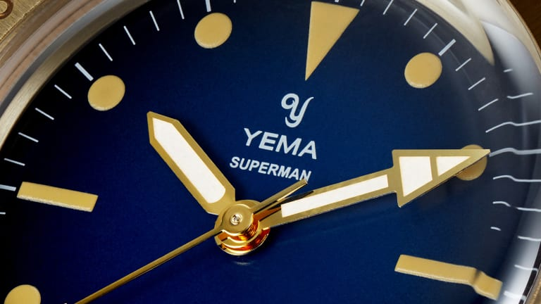 Yema reissues its Superman watch from 1970 in a new bronze finish
