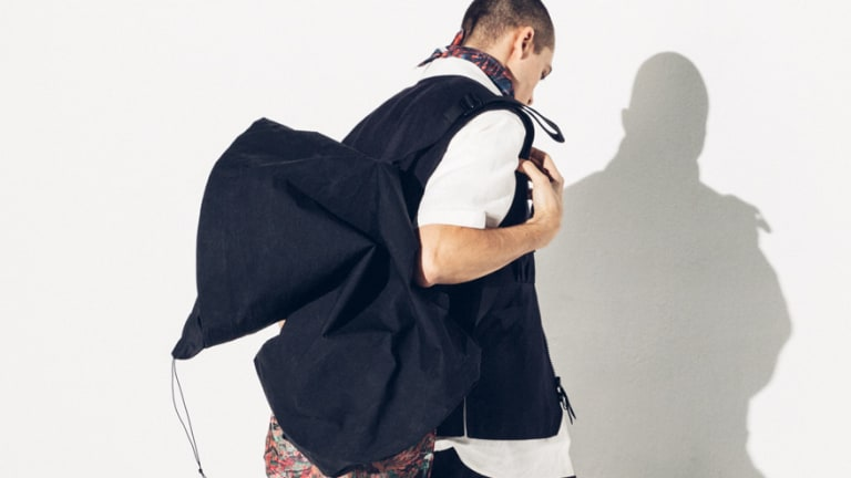 Outlier's latest experiment upgrades the stuff sack with Japanese fabric