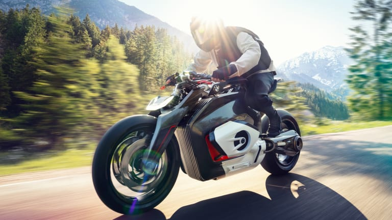 BMW Motorrad's Vision DC Roadster previews the brand's expansion into all-electric bikes