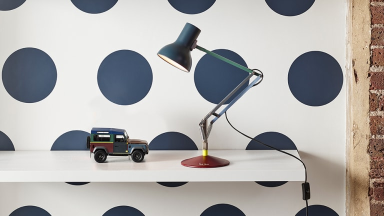 Paul Smith and Anglepoise reveal a new lighting collection inspired by the designer's custom Defender