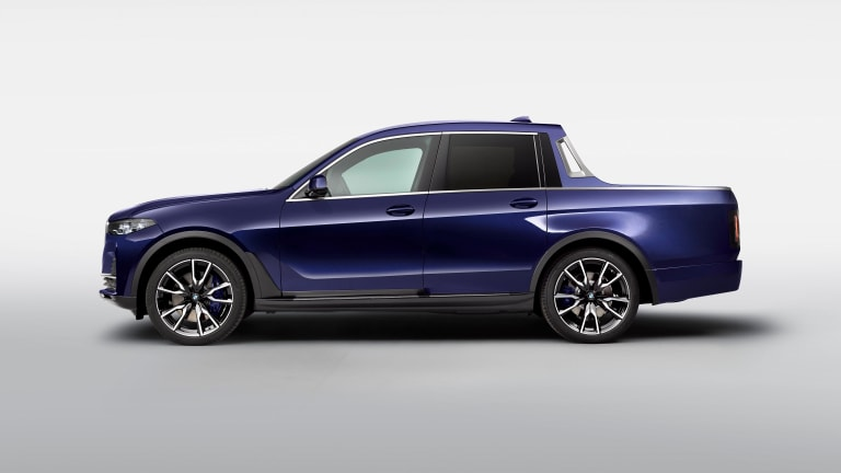 Trainees at BMW have converted a BMW X7 into a one-off pick-up truck