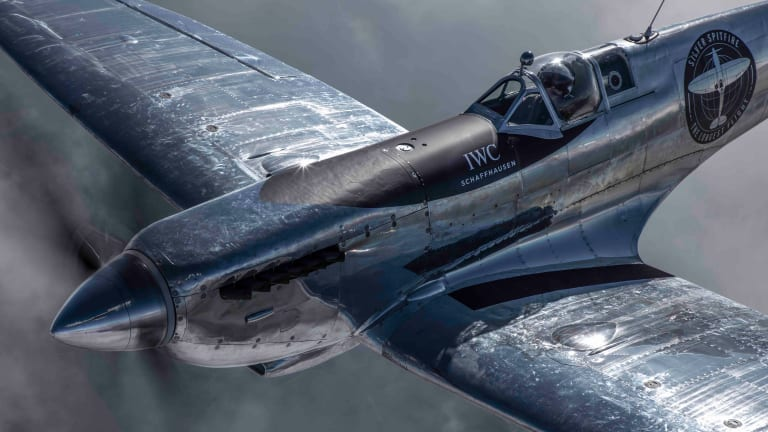 IWC and the Boultbee Flight Academy reveal their fully restored Silver Spitfire