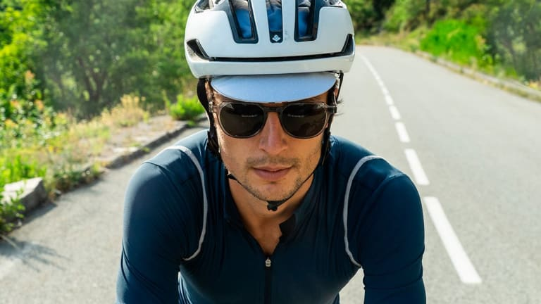 Café du Cycliste and Article One's new sunglass is designed to be worn on and off the bike