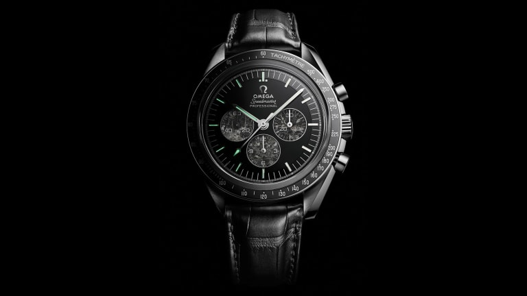Omega's Speedmaster Moonwatch 321 Platinum takes it back to 1957