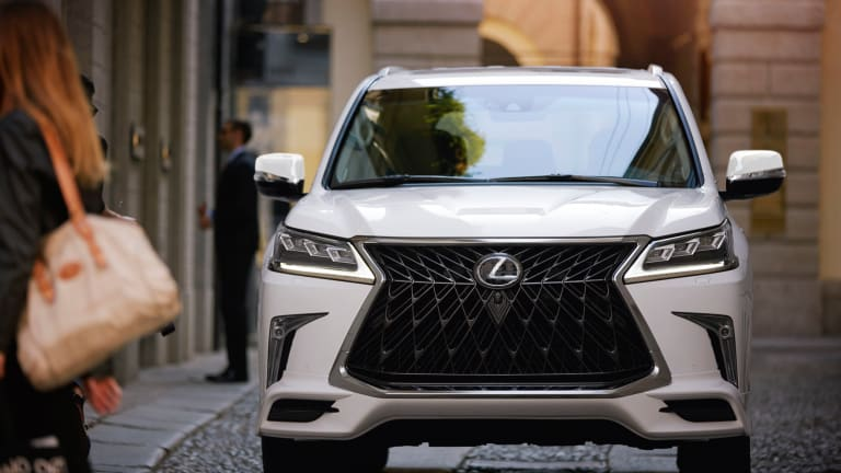 The 2020 Lexus LX570 introduces a bold front end with its new Sport Package