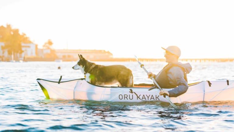 Oru Kayak's portable Inlet kayak only takes three minutes to assemble