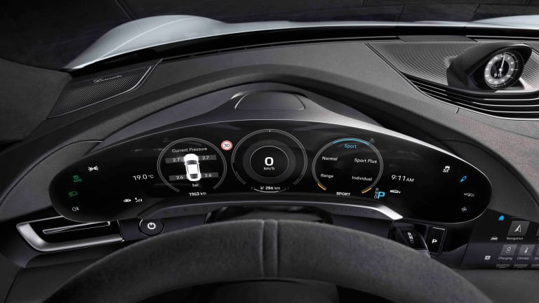 Porsche continues to tease the Taycan with the reveal of its interior