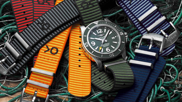 Breitling launches a new Superocean with Outerknown and a range of ECONYL straps