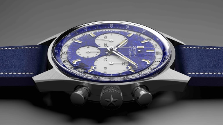 Zenith and Phillips celebrate the 50th anniversary of the El Primero with a one-off in platinum
