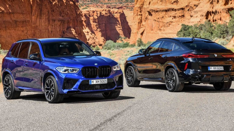BMW reveals the 3rd generation X5 M and X6 M.