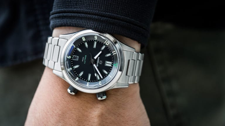 Nodus' Duality watch can be equipped with two bezel options